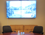 A video wall on the basis of Samsung-460UT professional striking narrow-bezel panels