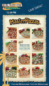 Digital Signage - interactive menu